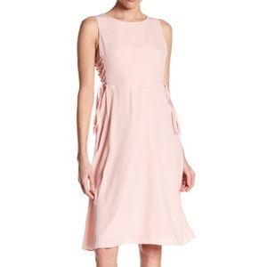 19 Cooper Pink Lace Up Dress